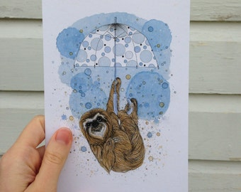 "Greeting Card - ""Sloth"""