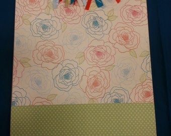 Customized Clipboard - large flowers