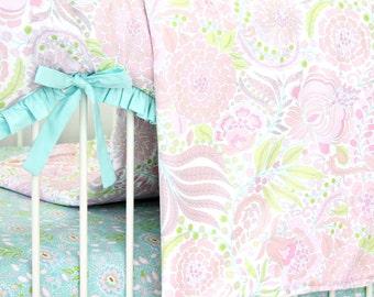 15% OFF SALE- Sweet Caroline Pastel Baby Blanket