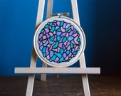 Silk Painting - Stained Glass Style - Hoop Art - Wall Art - Under 15 - Mothers Day - Gift for Her - Gift for Him - Home Decor