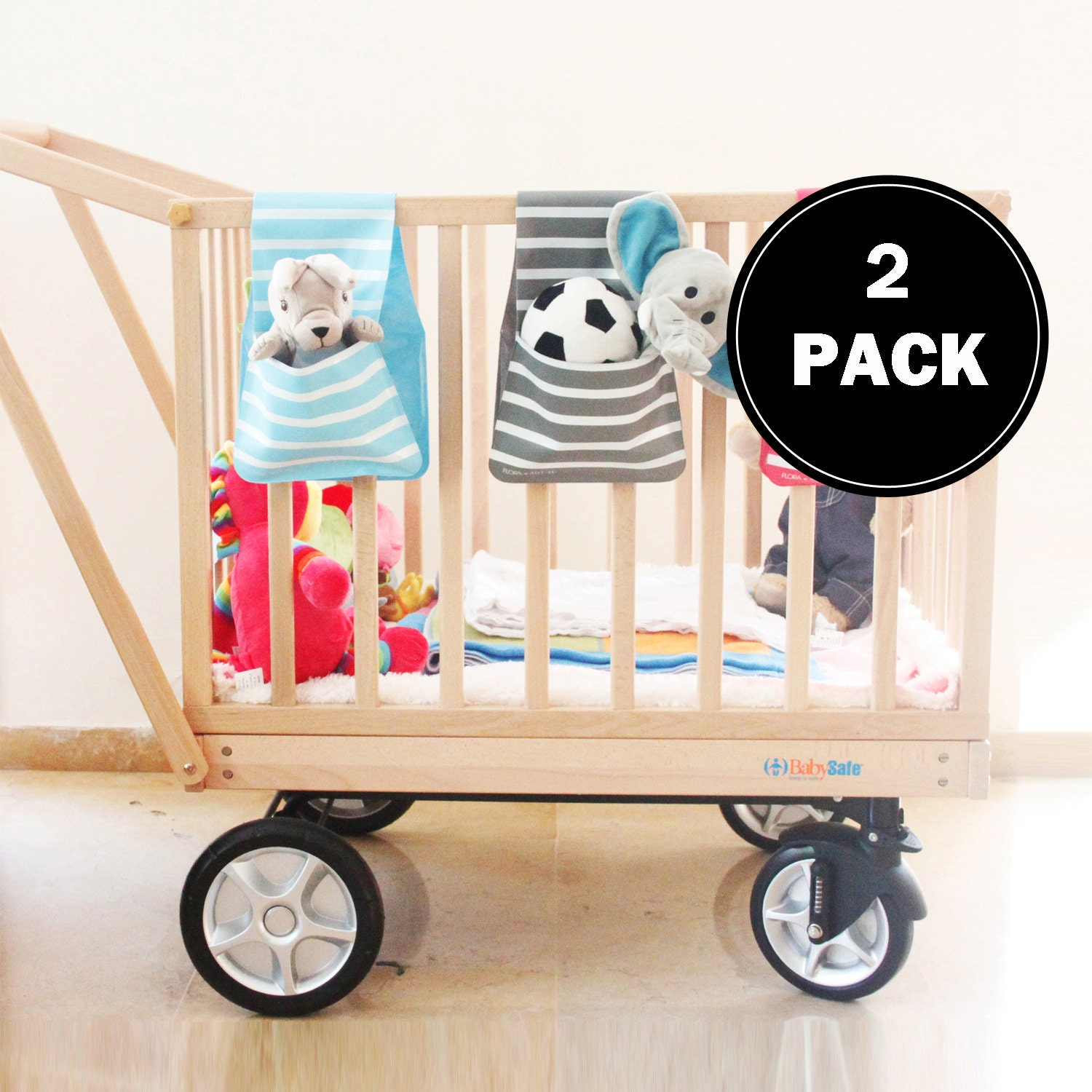 Baby crib for sale malaysia - Baby Crib Organizer Baby Stroller Bag Playpen Storage Organize Toys Multipurpose 2 Pack Double Pockets 14 Colors 6 Patterns Sale