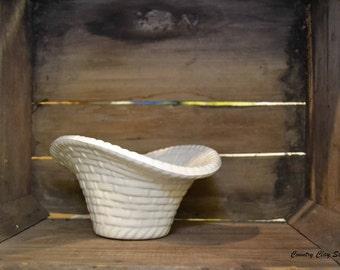 Whiteware Orchard Basket