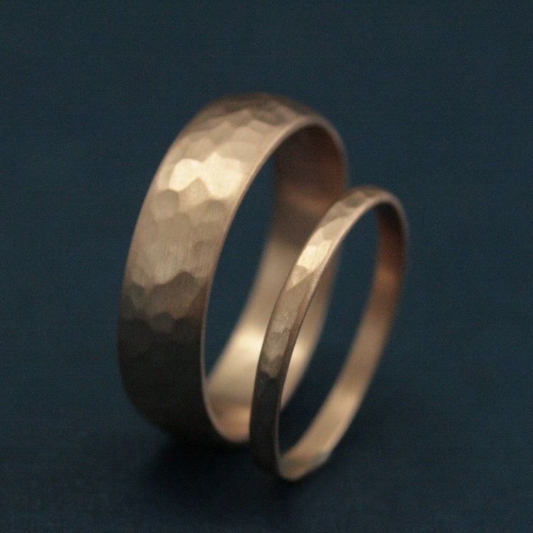 Rose Gold Wedding Band SetHis and Hers Wedding by RevolutionBA