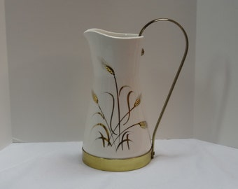 Mid Century Golden Wheat Royal Sealy Pitcher/Jug-FALL SALE!
