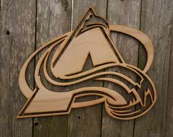 Colorado Avalanche logo wall hanging sign