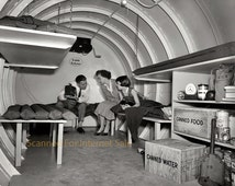 1955  H-Bomb Fallout Shelter  Photo Doomsday, Nuclear -  Family Hideaway