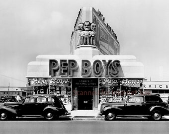 1946 Pep Boys Store Photo / Manny, Moe & Jack