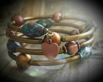 Antiqued memory wire