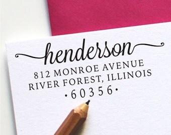 Return Address Stamp - Custom Address Stamp - Self Inking Stamp or Wood Handled (H121)