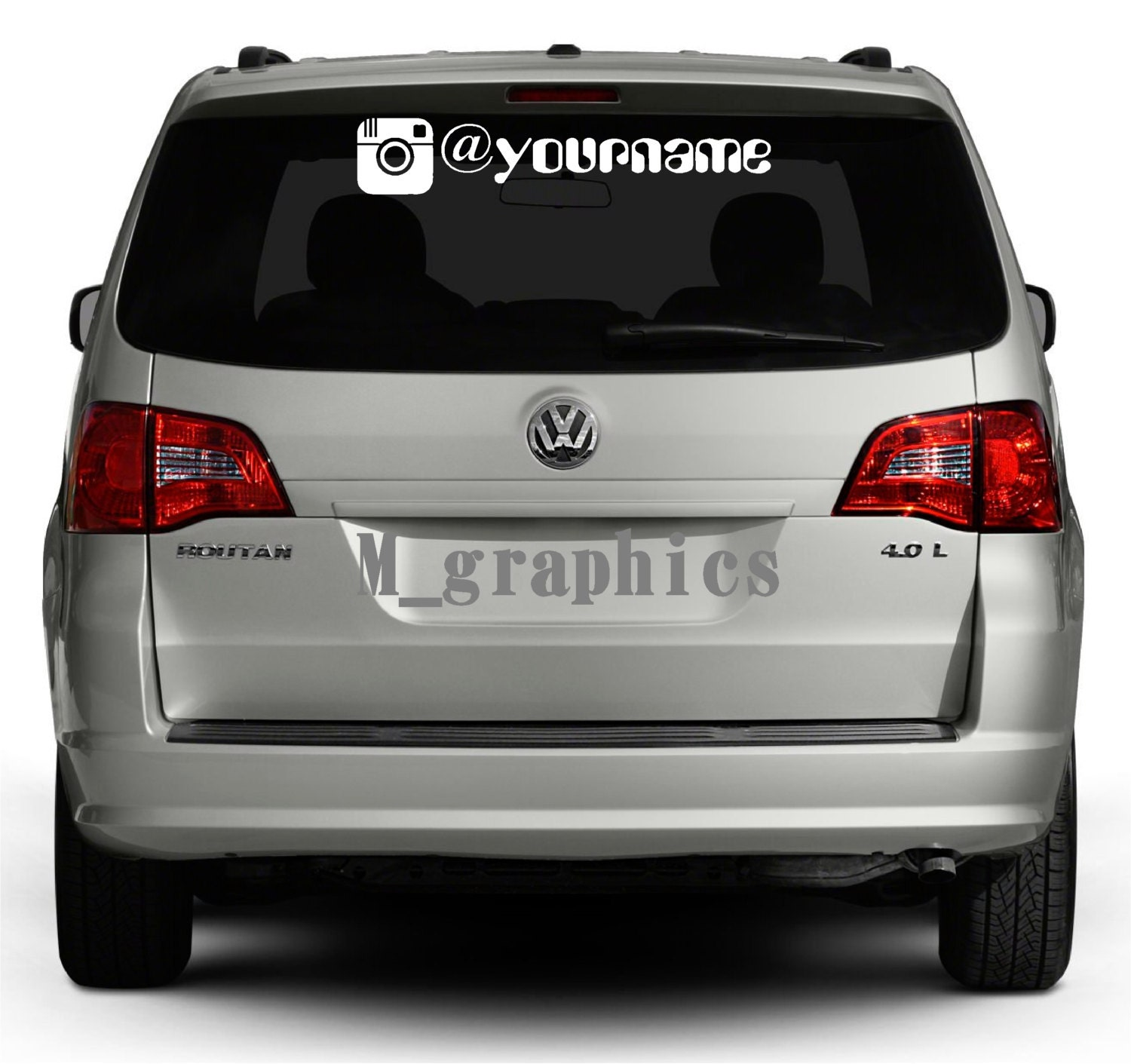 Car decal design singapore - Instagram Logo Vinyl Decal Sticker Custom Lettering Vehicle Decal