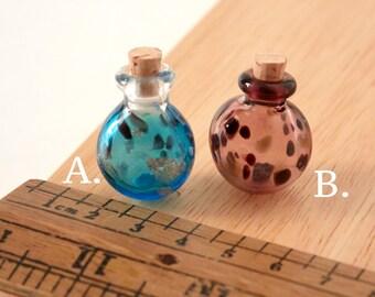 DIY Little color glass bottle pendant set, Hollow Glass, Necklace pendant
