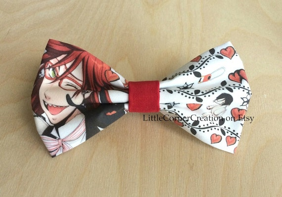 Anime Characters Using Bow : Black butler grell sutcliff anime inspired hair bow or