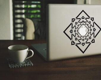 Macbook Sticker Geometric Diamonds