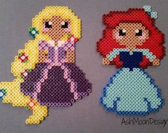 Disney Princess Perler Bead Figures