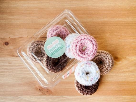 Amigurumi Crochet Donut Magnet Set