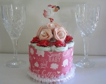 Mini Diaper Cake Centerpiece