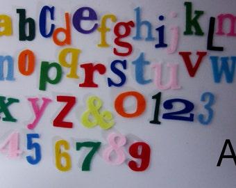 "Alphabet ""world play"" 37 pieces of felt"