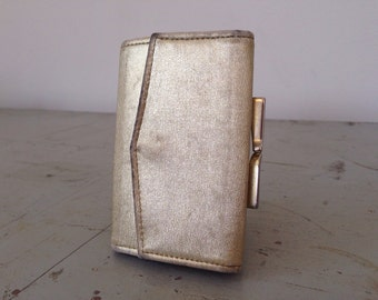 Vintage Gold Wallet - Kiss Lock Coin Purse - St. Thomas