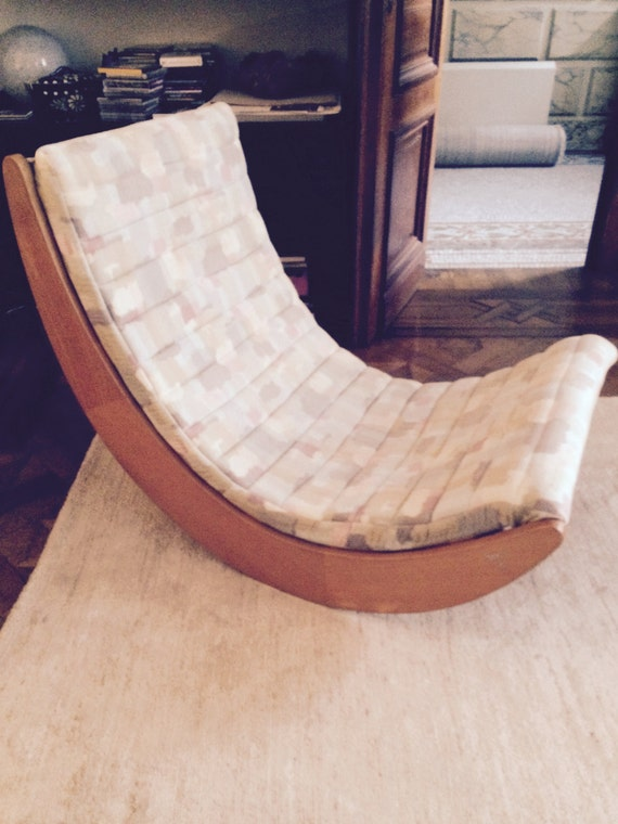 Panton Relaxer Rocking Chair Relaxer Chair by Verner Panton
