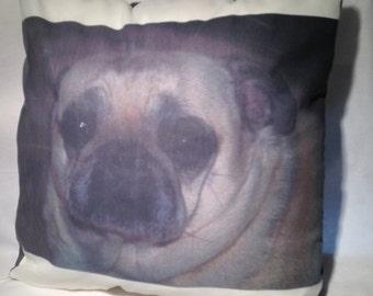 Cricket our favorite Pug/Personalized Pet Pillow/In Memorium