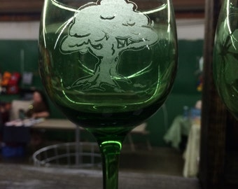 Copper Monkey Decal Glass