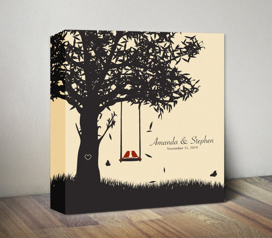 Personalized 1st anniversary canvas gift for couples gift for for Gift for anniversary for couple