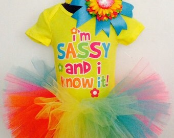 Sassy & I know it tutu
