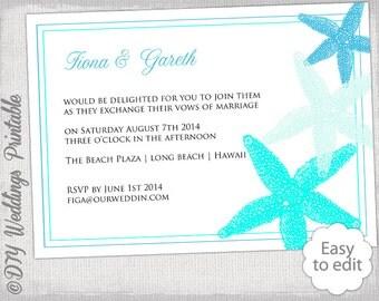 Rustic Wedding invitation template Wood & Lace