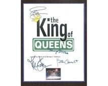 The King of Queens Pilot Episode TV Script Signature Autographs: Kevin James, Leah Remini, Jerry Stiller, Patton Oswalt