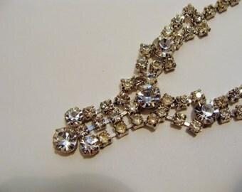 14 inch Rhinestone V-shaped Necklace