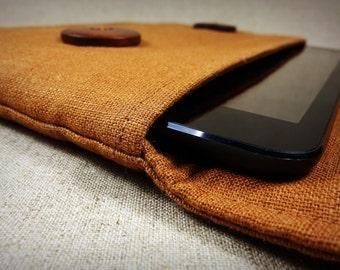 Handmade Original Unique Burnt Orange Kindle Fire HD sleeve.pouch.bag.case