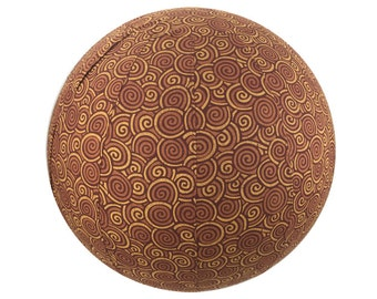 65cm Yoga Ball Cover - Chocolate Swirls Print
