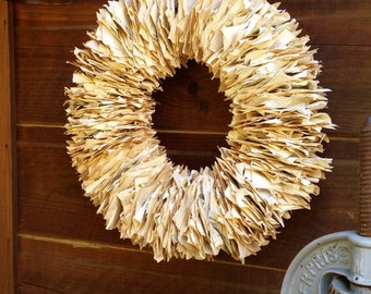 Recycled and Upcycled Vintage Book Wreath 20+ inches!