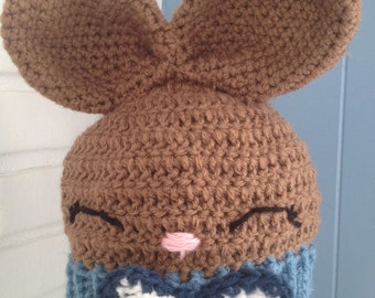 Crocheted Boy Bunny Hat