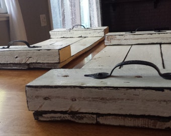 White Pallet Serving Tray