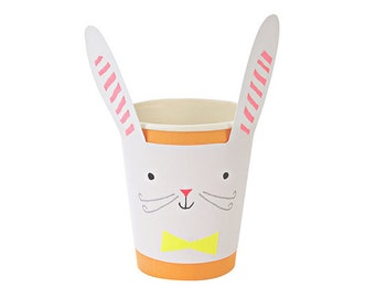 Easter Bunny Paper Cups, Set of 12 Meri Meri Easter Cups, Easter Brunch Tableware