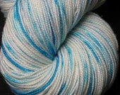 Ice Queen, immersion dyed fingering yarn