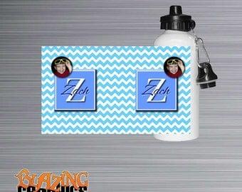 Personalized Aluminum Water Bottle - Monogrammed Sports Bottle - Durable Sports Bottle for Kids - Custom Sports Drink - #WB600