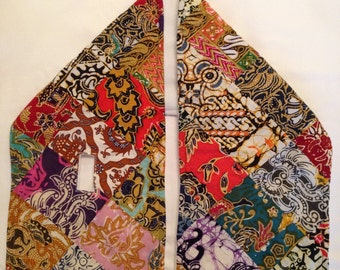 Multicolored lightweight scarf