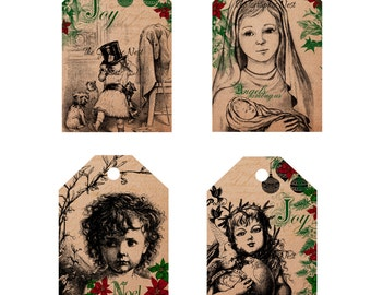 Holiday tags. Digital download