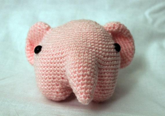 Pink Elephant- Stuffed Animal- Amigurumi