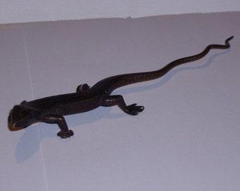 brass lizard sculpture from the Nagalands