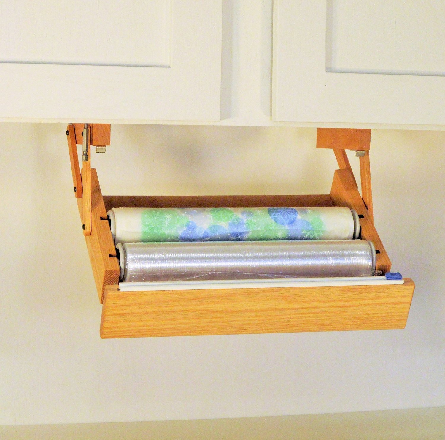 Ultimate storage under cabinet cling wrap by Diy under counter storage