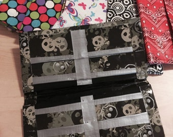 Skull duct tape flip wallet,scary to carry your cash
