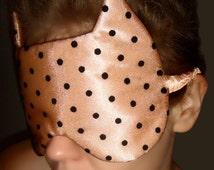 MANY COLOURS! Peach Satin sleeping mask, Travel sleeping mask, Dot tulle sleeping mask, Classic sleeping mask, Soft sleeping mask,sleep mask