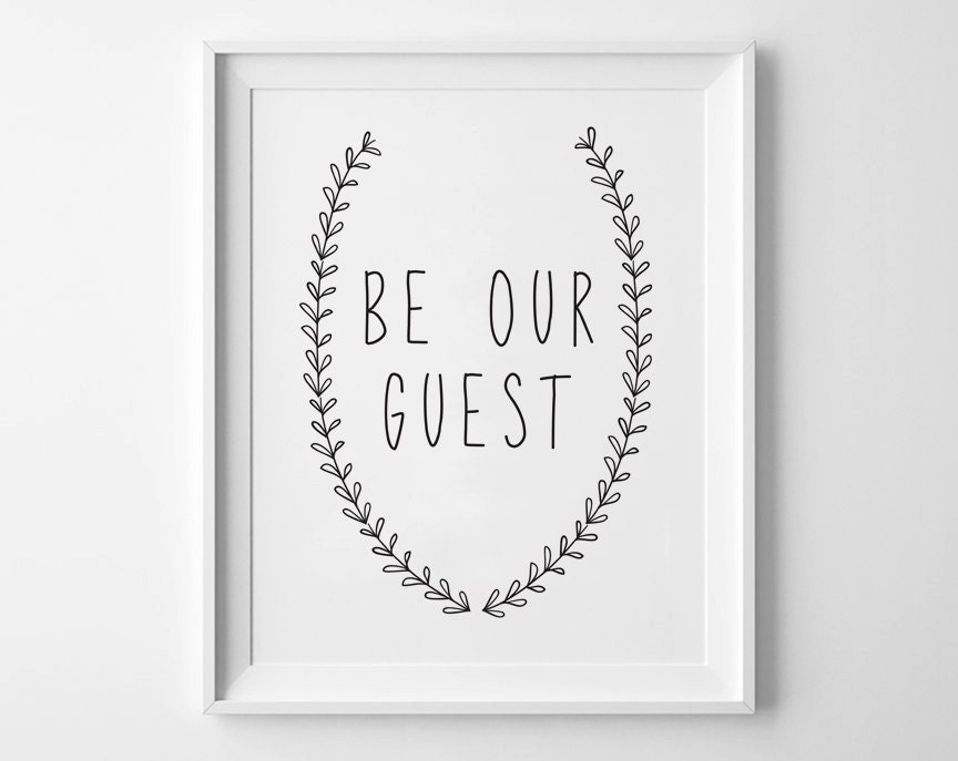 Dynamite image pertaining to be our guest printable