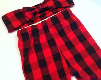 Buffalo Plaid Leggings,  leggings, pants, baby leggings, buffalo plaid, plaid, lumberjack