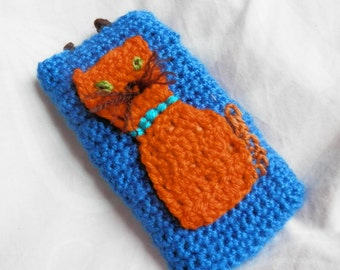 ginger cat crochet mobile cosy