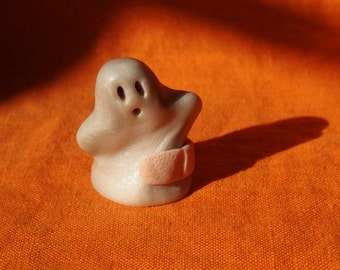 Ghost Boo Boo 4, Halloween miniature ghost figurine, handmade miniature ghost sculpture, miniature ghost Halloween decoration