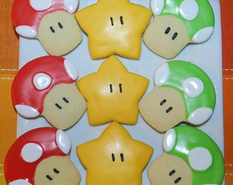 Super Mario Brothers Cookies 1 dozen (Individually Bagged)